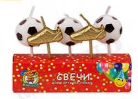 "Свечи в торт ""Футбол"" 5 шт"