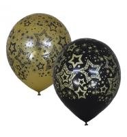 "Воздушный шар ""BLACK&GOLD Голливуд"" 12"""