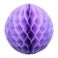 Бумажные шары соты сиреневый цвет 15 см