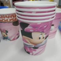 """Бумажные стаканчики """"Миннии Маус"""" 250мм (набор 10 шт)"""