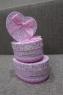 Коробка розовая, в виде сердца