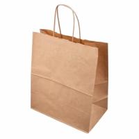 Бумажный пакет крафт, бурый, 220*120*250 мм