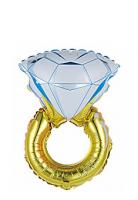 """Фольгированный шар """"Кольцо с бриллиантом"""" (40""""/102 см)"""