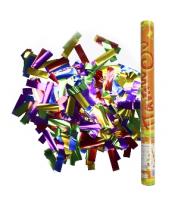 Пневмохлопушка в пластиковой тубе фольгированное конфетти, 60 см