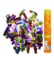 Пневмохлопушка в пластиковой тубе фольгированное конфетти