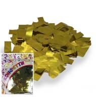 Конфетти фольгированное Прямоугольники золото 2*5см 100гр