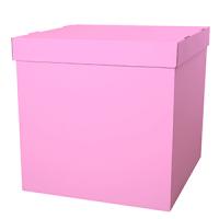 Коробка сюрприз для воздушных шариков, Розовый 60*60*60 см