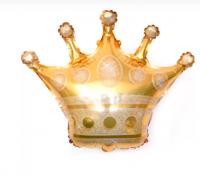 """Фольгированный шар """"Корона"""", Золото 28''/71 см"""