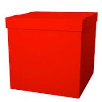 Коробка сюрприз для воздушных шариков, Красный 60*60*60 см