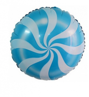 """Фольгированный шар Леденец, голубой 18"""""""