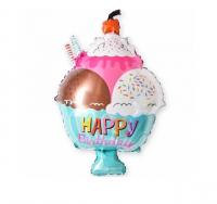 """Фольгированный шар """"Мороженое"""" (28″/71 см) Фигура"""