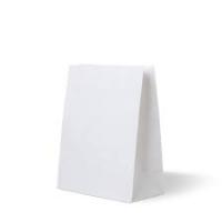 Бумажные пакеты крафт с плоским дном, белый, 90*205 мм