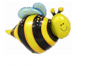 """Фольгированный шар """"Веселая пчела"""", Фигура, 30""""/76 см"""