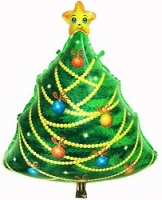 """Фольгированный шар Новогодняя елка,29""""/74 см"""
