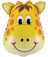 """Фольгированный шар """"Большая голова Жирафа"""" (34""""/86 см)"""
