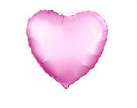 """Фольгированный шар """"Розовое сердце"""" 18""""/45см"""