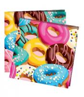 """Бумажные салфетки """"Пончики"""" 12шт"""