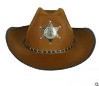 Шляпа ковбоя тёмная со звездой