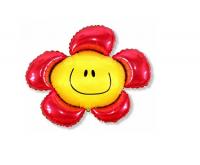 """Фольгированный шар Цветок Красный (41""""/104 см)"""