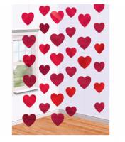 Декоративная подвеска, Сердца, 210 см, 6 шт