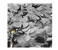 Конфетти фольга, Круги, Серебро, 1 см, 50 гр