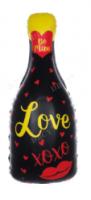 """Фольгированный шар  """"Бутылка шампанского"""", черная, 33""""/88 см"""
