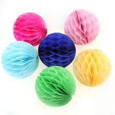 Бумажные шары соты зеленый цвет 15 см