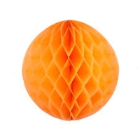 Бумажные шары соты оранжевый цвет 20 см
