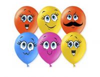 """Воздушные шарики 12"""" """"Милые смайлы"""", Ассорти, пастель"""