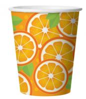 Бумажные стаканчики Апельсин, 250 мл, 6 шт