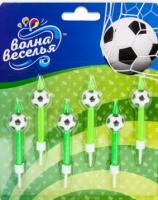 Свечи Футбол, 6 см, 6 шт