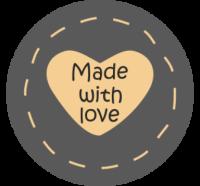 """Стикер """"Made with love"""""""