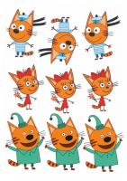 """Съедобная картинка """"Три кота"""" №5"""