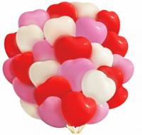 """Воздушный шар """"Сердце"""" 10""""/25 см, ассорти"""