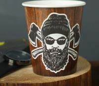 """Стакан бумажный для кофе """"Крепкие зёрна"""", 250 мл, 10 шт"""