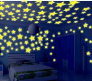 Люминесцентные световые звезды, цвет салатовый