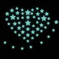 Люминесцентные световые звезды, цвет голубой