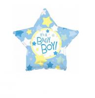 """Фольгированный шар """"Это мальчик"""" Звезда18"""""""